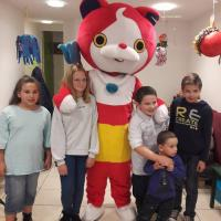 Anniversaire avec mascotte au café Nino'Kid